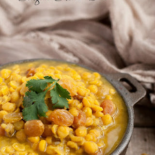 Bengali Cholar Dal - Sweet and Spicy Lentils