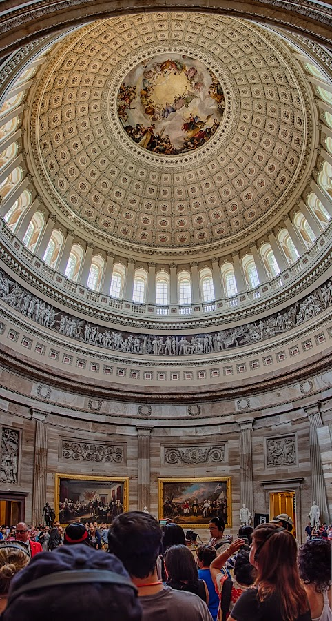 The Rotunda by Craig Pifer - Buildings & Architecture Public & Historical ( dc, washington d.c., detail, vertorama, hdr, rotunda, us capitol, inside, dome, washington dc, government, capital )