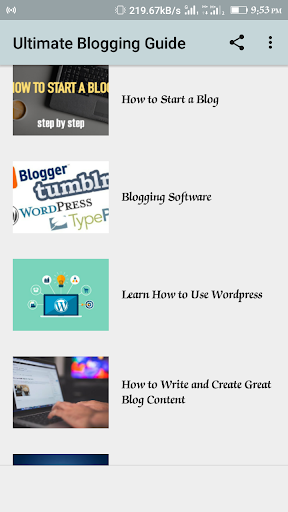 Blogging Guide 1.1 screenshots 1