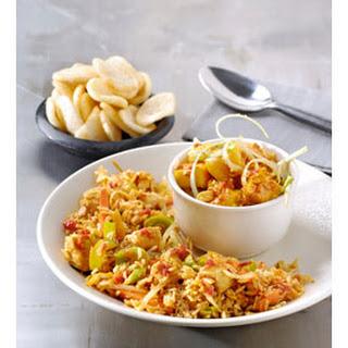Nasi sambal-mangosalade & Seroendeng