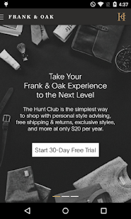 Frank & Oak - Premium Menswear- screenshot thumbnail