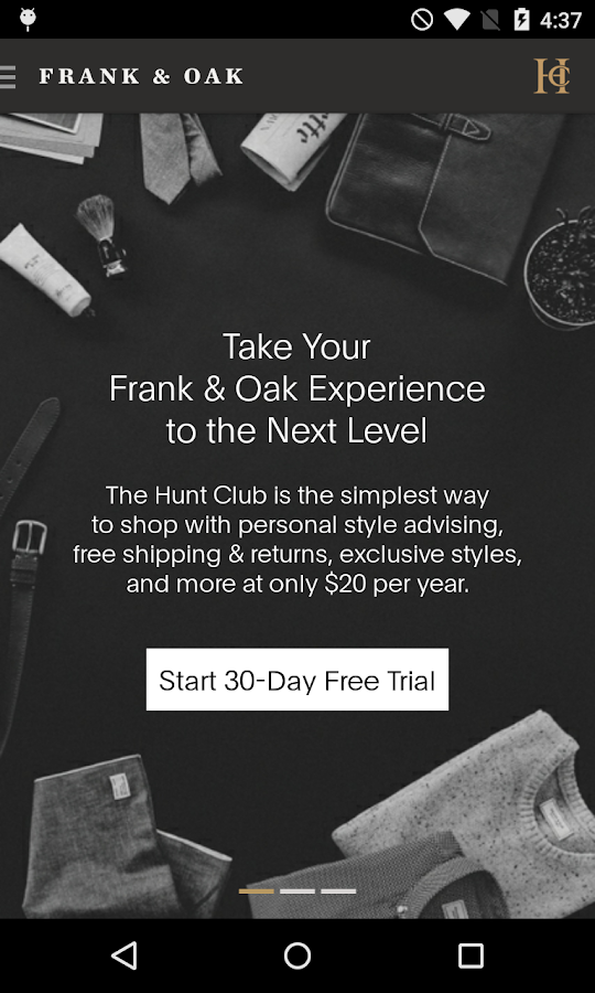 Frank & Oak - Premium Menswear- screenshot