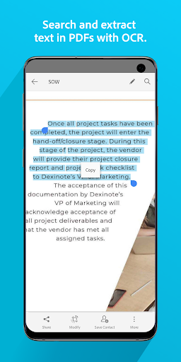 Screenshot for Adobe Scan: PDF & Business Card Scanner with OCR in United States Play Store