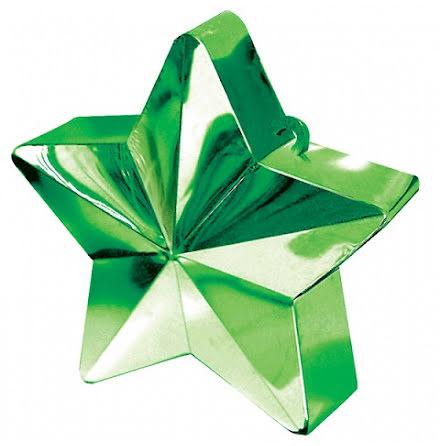 Ballongtyngd - Stjärna grön