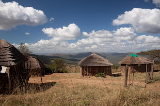 Photo: Swazi village / Swazi vesnička v horách