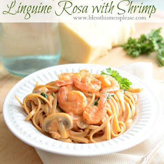 Linguine Rosa with Shrimp