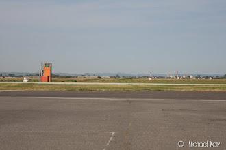 Photo: Ikke mye til tårn på Lydd Airport.