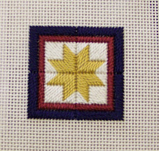 Photo: Completed 21 Mar 2010. Stitching Friends Retreat 2010 Canvaswork Star from Round Robin class.
