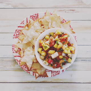Peach Mango Salsa and Star Chips