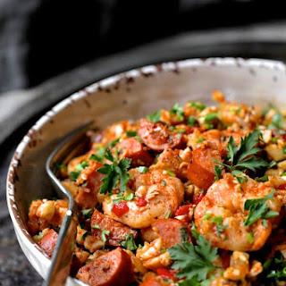 Low Carb Jambalaya with Chicken, Shrimp and Sausage Recipe
