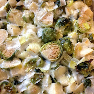 Roasted Brussels Sprouts, Leeks & Apple.