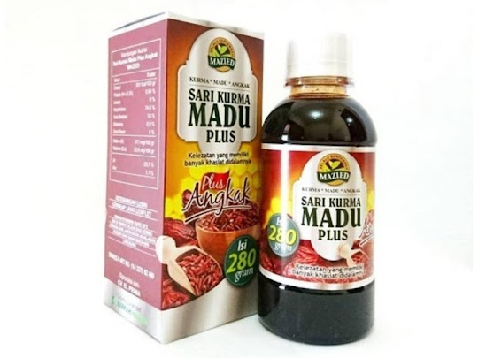 Sari Kurma Madu Plus Angkak MAZIED herbal menambah hb hemoglobin anemia trombosit ibu hamil menyusui