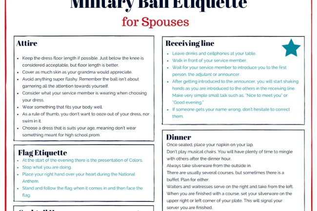 0ba98eed4e The Ultimate Guide to Military Ball Etiquette for Spouses