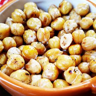 Lemon Garlic Roasted Chickpeas.