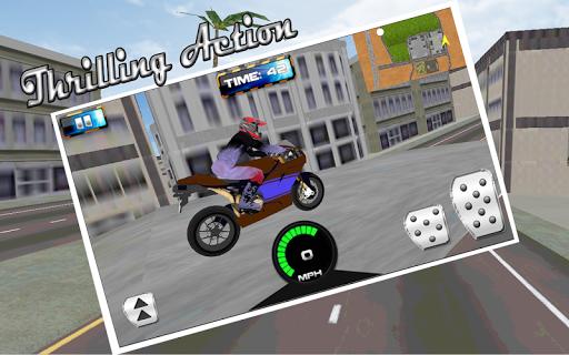 クレイジー市バイクレーサー