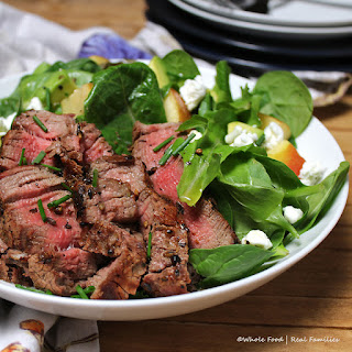 Coriander Crusted Steak Salad #WeekdaySupper