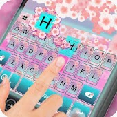 Pink Blossom Lovely keyboard