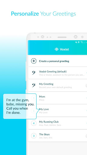 Voxist: Visual voicemail you can read 1.30.6 screenshots 5
