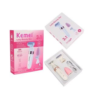 Epilator Kemei KM-3204 Satinelle Advanced Wet & Dry si Facial 2 in 1