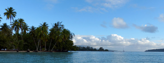 Photo: We anchored near Motu Mahaea for the night.