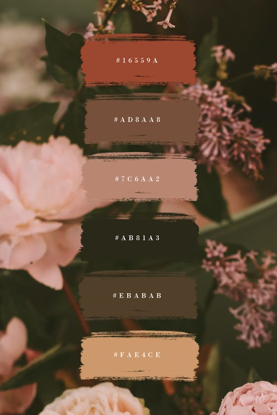 Floral Palette - Brand Board Template