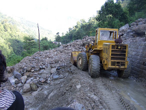 Photo: Landslide on the way to Kodari