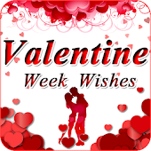 Valentine Week Wishes - Rose, Propose,Kiss,Teddy