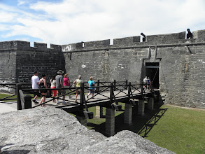 Photo: Going into the fort
