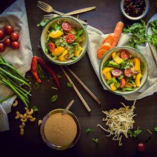 Crunchy Vegetable Salad with Cashew-Coconut Dressing
