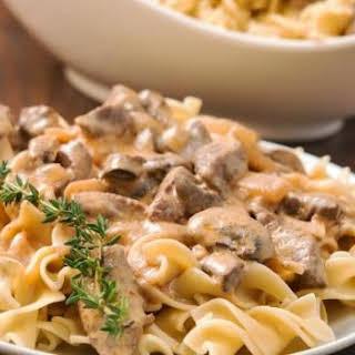 Whole Wheat Pasta in Mushroom Sauce.