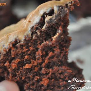 Microwave Eggless Chocolate Cake.