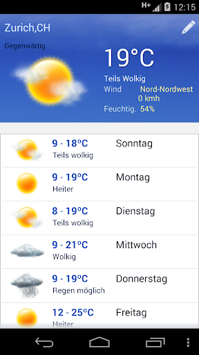 Wetter screenshot 1
