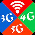 Wifi, 5G, 4G, 3G Auto Swift - Speed check icon