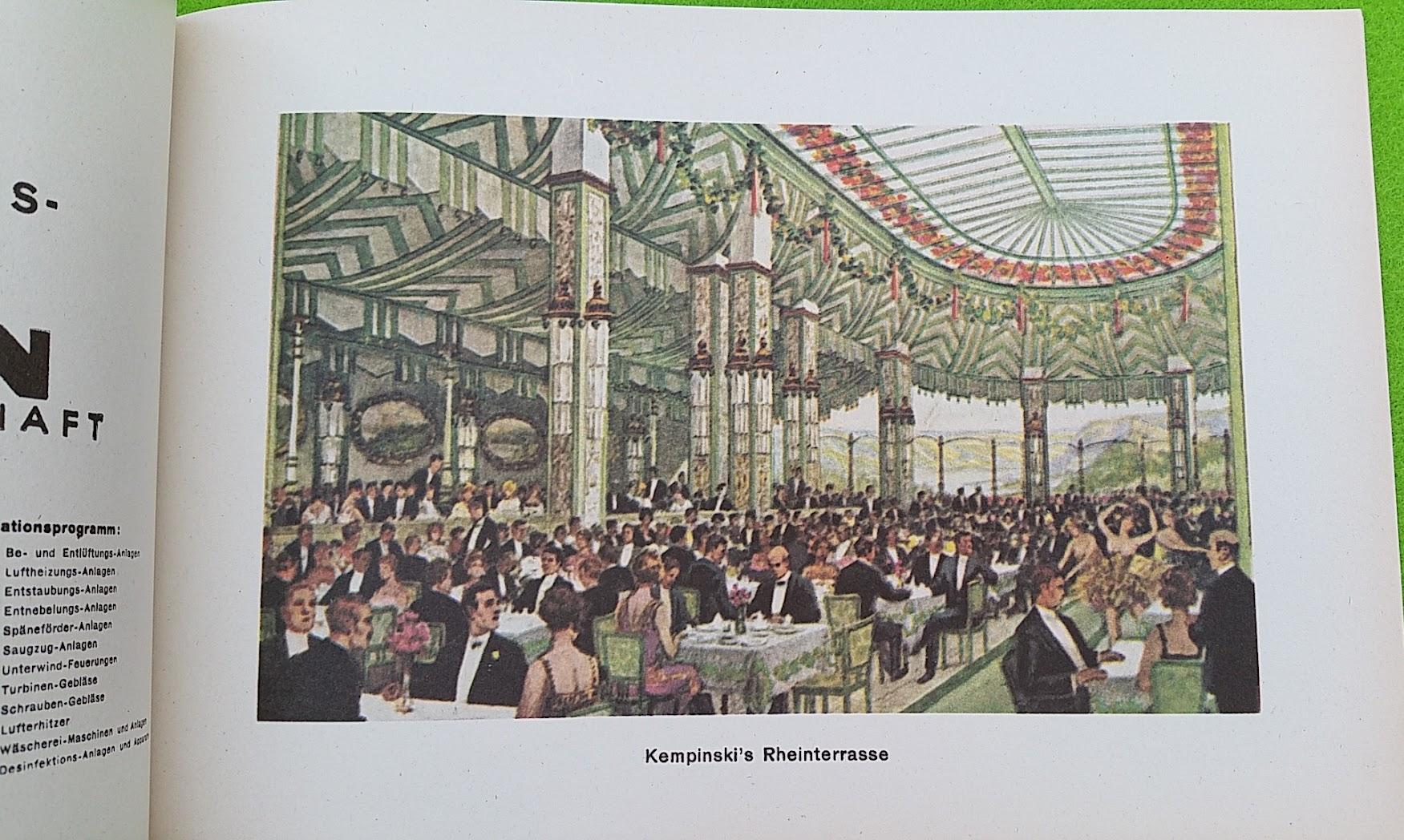Begleitheft zur Eröffnung von Haus Vaterland am Potsdamer Platz, Berlin, 31. August 1928 - Kempinski's Rheinterrasse