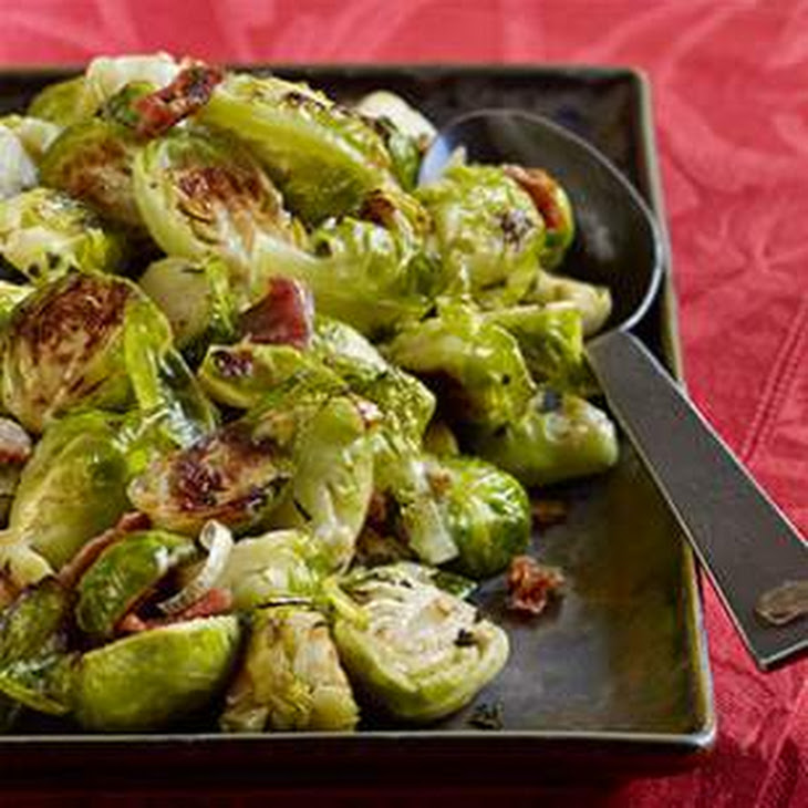 Roasted Brussels Sprouts with Pancetta & Sage Recipe | Yummly