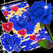 Blue golden rose live wallpaper