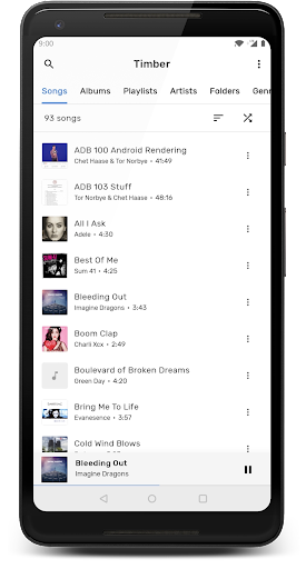 Screenshot for TimberX Music Player in United States Play Store