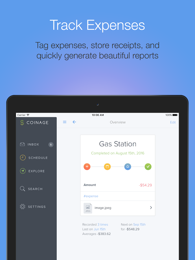 Coinage Personal Finance- screenshot