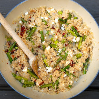 Couscous Salad with Feta, Asparagus + Sundried Tomatoes