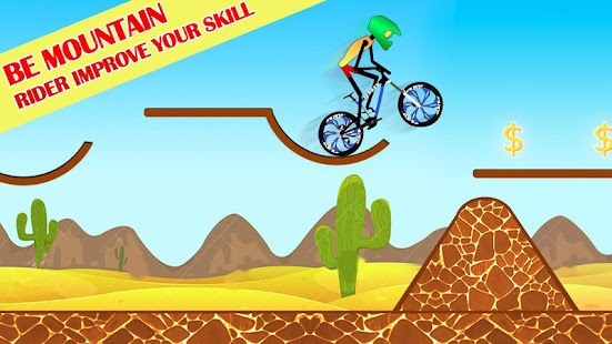 Tricky Bike Stickman Mountain Hill Racing Stunt - náhled