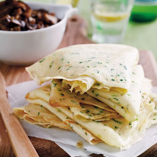 Spring Onion Crespelle (crêpes) With Bacon And Mushroom Ragu.