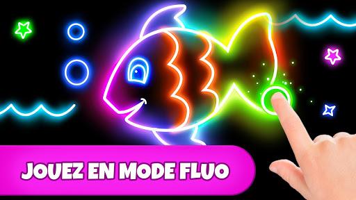 Code Triche Jeu de coloriage: coloriage, peinture, dessin fluo APK MOD screenshots 2