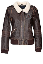 Photo: Blouson 100% Cuir APRIL MAY, Col fausse fourrure - Mode BE