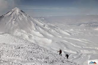 Photo: Mirka & Katka are reaching the summit of Avachinsky