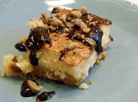 Caramel, Chocolate & Almond Gooey Butter Cake Recipe