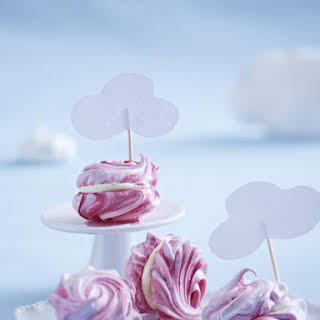 Pink and White Chocolate Meringues.