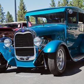 Blue Hot Rod by Dale Fillmore - Transportation Automobiles ( classic car, automobile, roadster, transportation, hot rod,  )