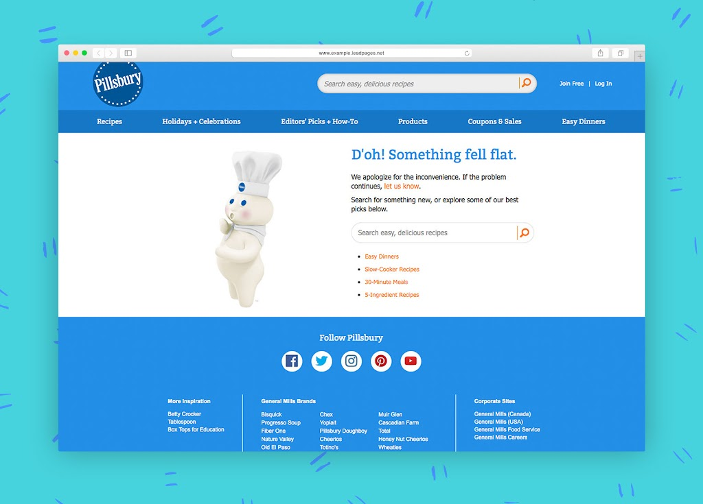 Ingenious) Examples of How to Use Your 404 Page for Lead Generation