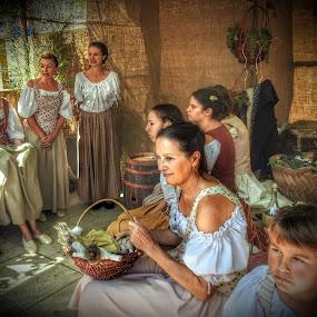 people in costume by Patrizia Emiliani - People Group/Corporate ( people, costume,  )