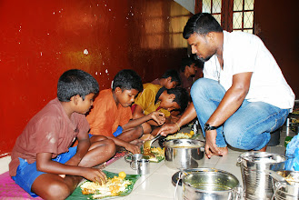 Photo: feeding Divine's children